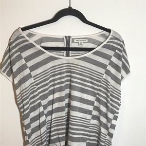 American Eagle Striped Capped Sleeve Shirt